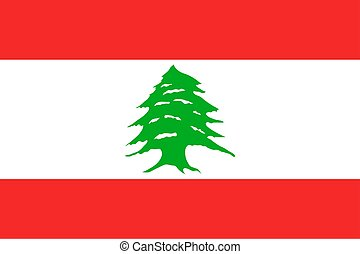 National flag of Lebanese Republic. Patriotic sign in...