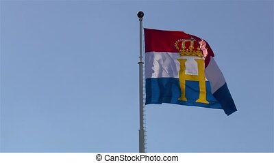 National flag of Luxembourg.