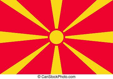 National flag of Macedonia country.