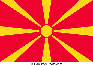 National flag of Macedonia country.