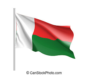 national flag of Madagascar.