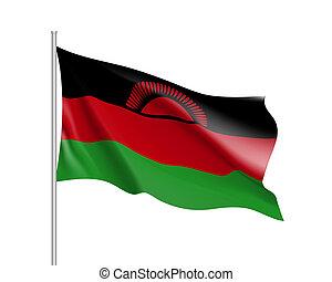 national flag of Malawi.