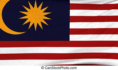 National flag of Malaysia flying on the wind