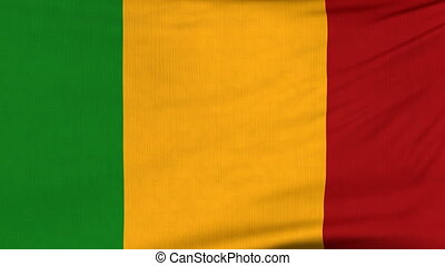 National flag of Mali flying on the wind