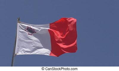 National flag of Malta closeup