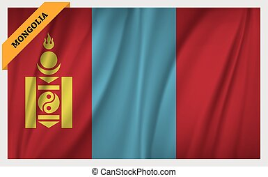 National flag of Mongolia