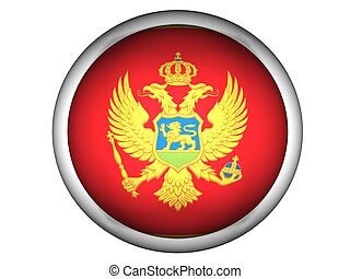 National Flag of Montenegro, button style