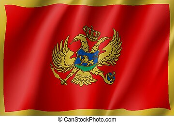 National flag of Montenegro country.