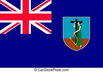 National flag of Montserrat Island