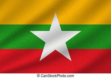 national flag of Myanmar