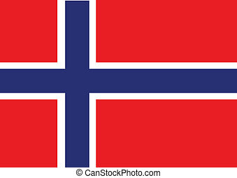 National flag of Norway idea design