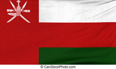National flag of Oman flying on the wind