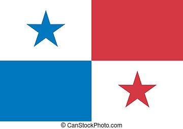 National flag of Panama  in official colors and proportions