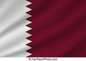 national flag of Qatar