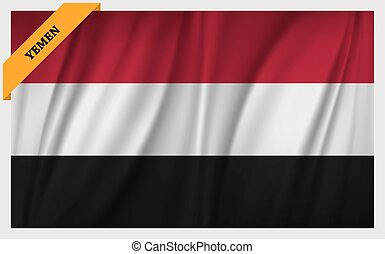National flag of Republic of Yemen
