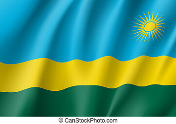 national flag of Rwanda.