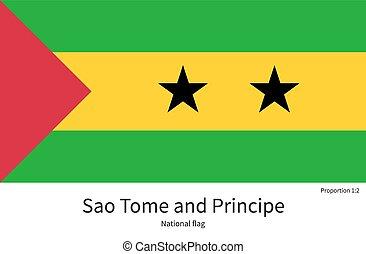 National flag of Sao Tome and Principe with correct...