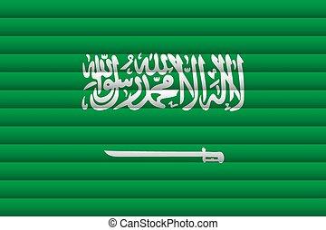 National Flag of Saudi Arabia. Vector Illustration.