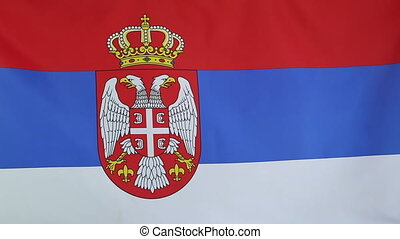 National flag of Serbia - Textile national flag of Serbia in...