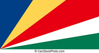 National flag of Seychelles in official colors