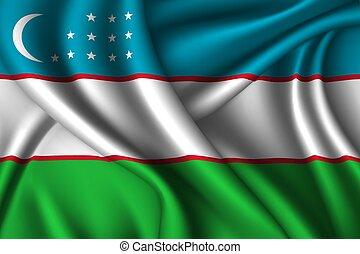 National flag of silk