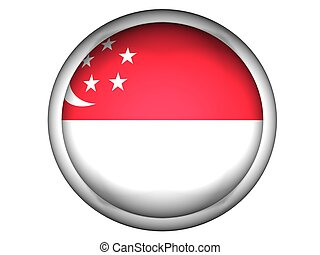 National Flag of Singapore, button style
