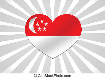 National flag of Singapore themes i