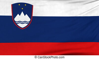 National flag of Slovenia flying on the wind - National flag...
