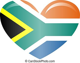 National flag of South Africa in official colors and proportions Icons.
