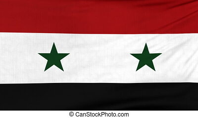 National flag of Syria flying on the wind - National flag of...