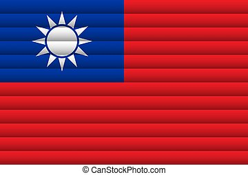 National Flag of Taiwan. For Independence Day
