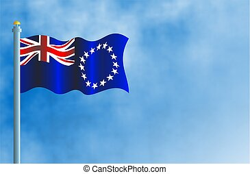 National flag of the Cook Islands.