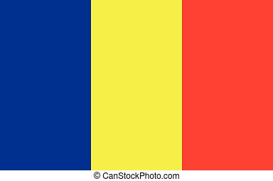 National flag of the country of Romania.