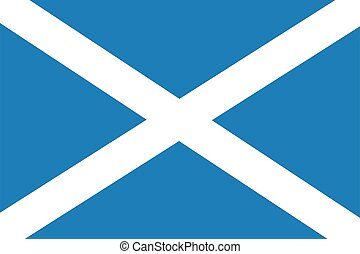 National flag of the country of Scotland.