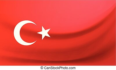 National flag of Turkey. Vector illustration