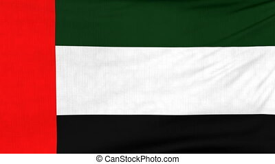 National flag of UAE flying on the wind