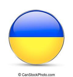 National flag of Ukraine isolated