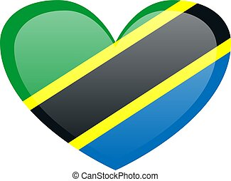 National flag of United Republic of Tanzania in official colors and proportions