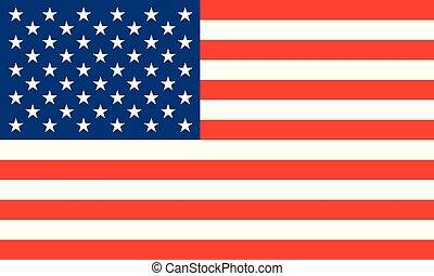 National flag of United States of America. Vector illustration