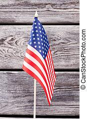 National flag of USA, vertical image.