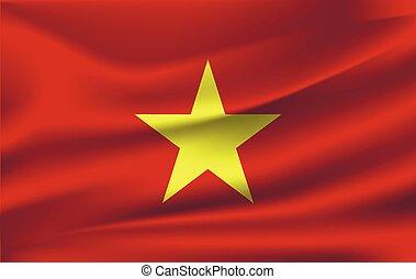 National flag of Vietnam.