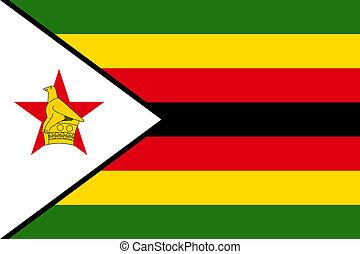 national flag of Zimbabwe.