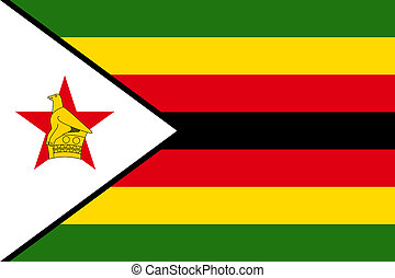 national flag of Zimbabwe.