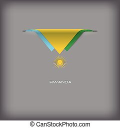 National flag Rwanda - The combination of colors of the...