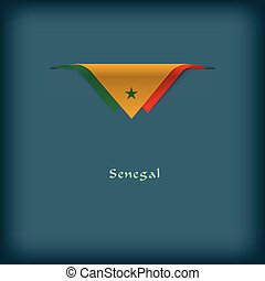National flag Senegal - The combination of colors of the...