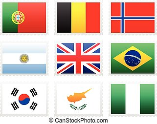 National flag set on a white background.