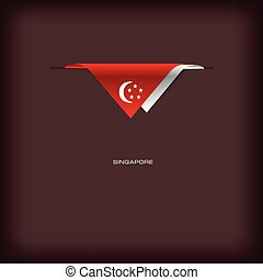 National flag Singapore - The combination of colors of the...