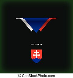 National flag Slovakia - The combination of colors of the...