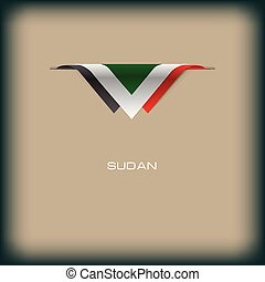 National flag Sudan - The combination of colors of the...
