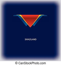National flag Swaziland - The combination of colors of the...